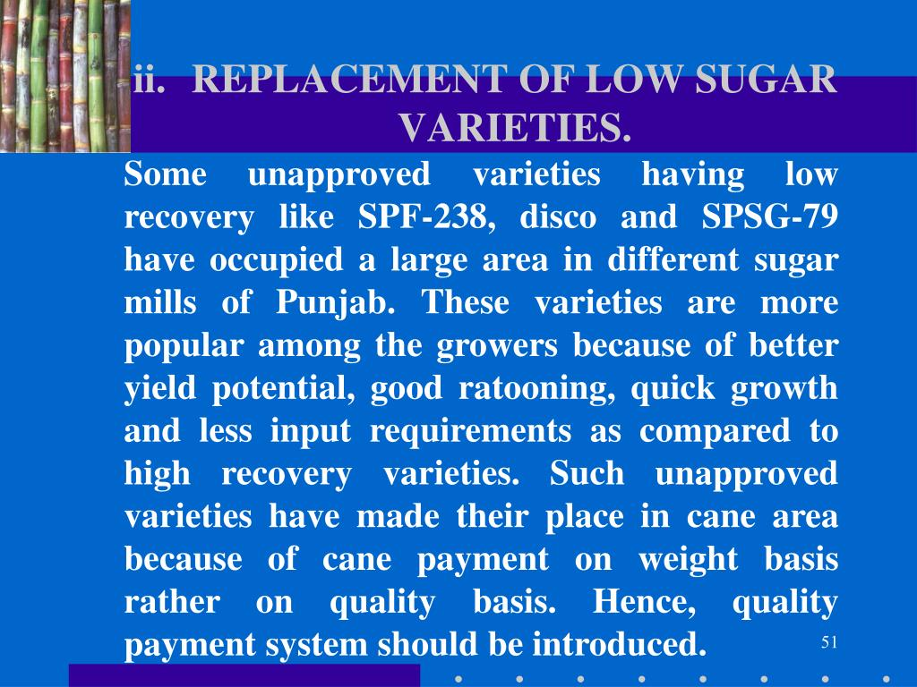 REPLACEMENT OF LOW SUGAR