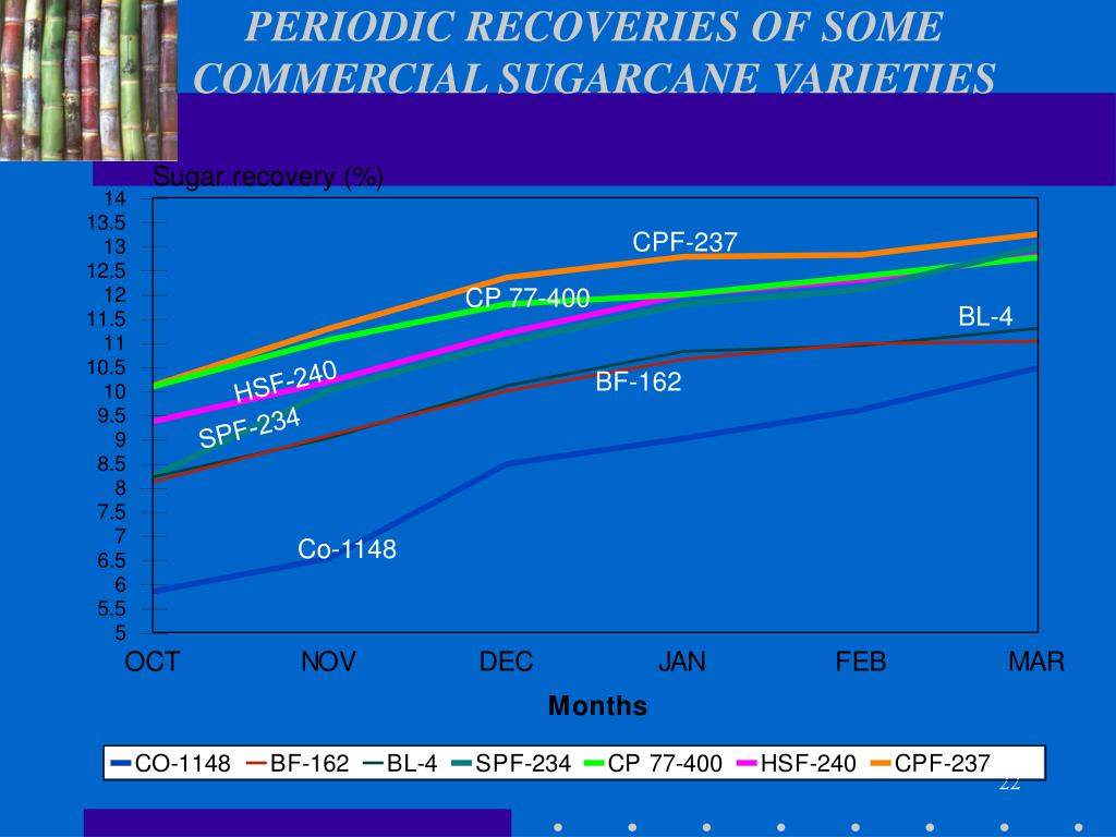 PERIODIC RECOVERIES OF SOME COMMERCIAL SUGARCANE VARIETIES