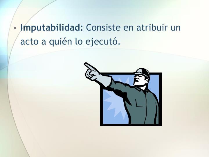 Imputabilidad: