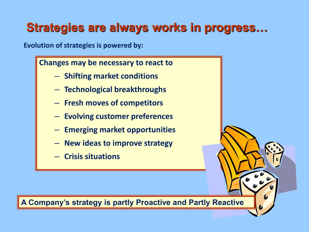 Evolution of strategies is powered by: