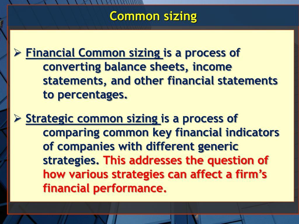 Common sizing