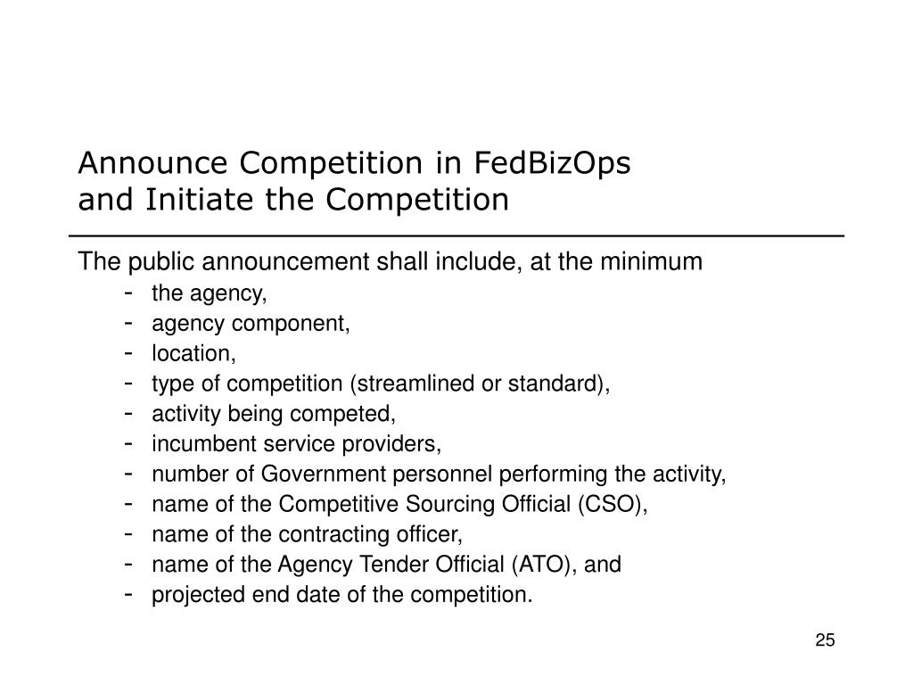 Announce Competition in FedBizOps