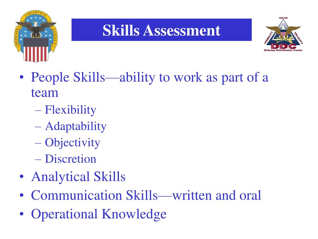 People Skills—ability to work as part of a team