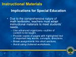 implications for special education27