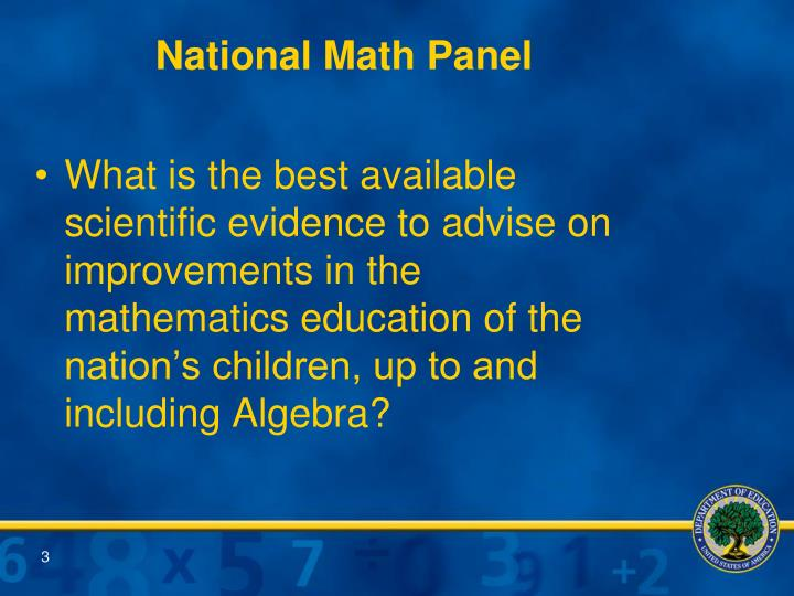 National math panel