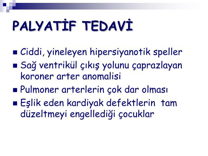 PALYATİF TEDAVİ