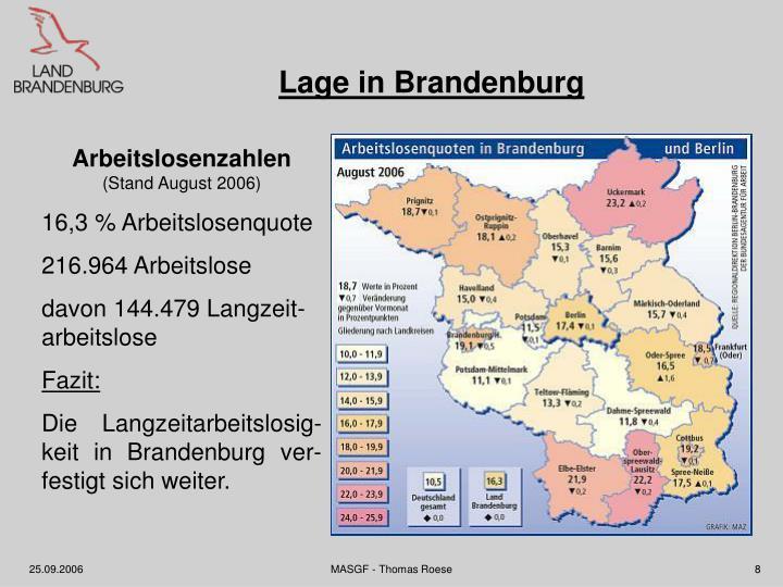 Lage in Brandenburg