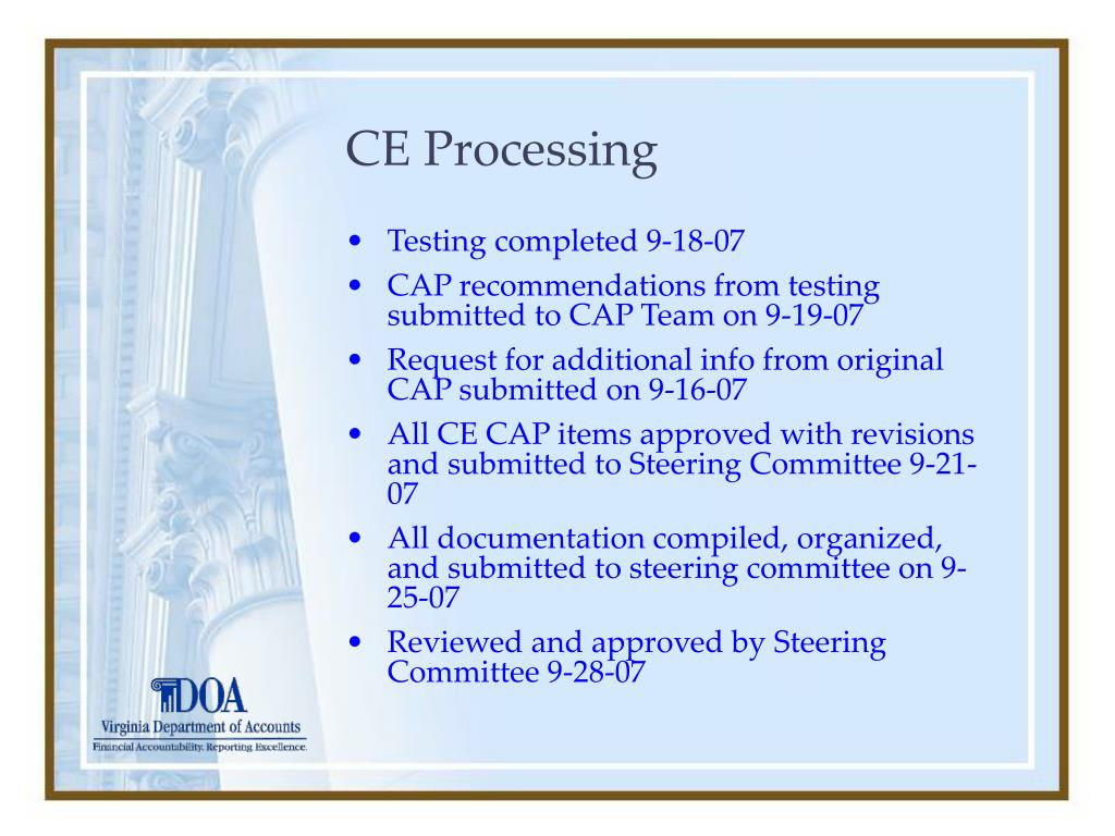 CE Processing