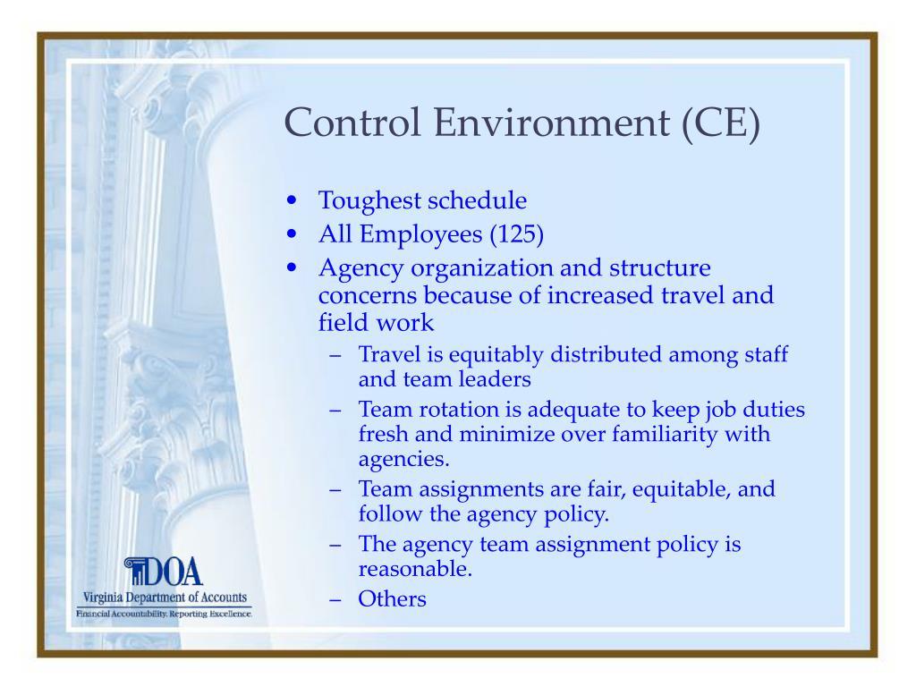 Control Environment (CE)