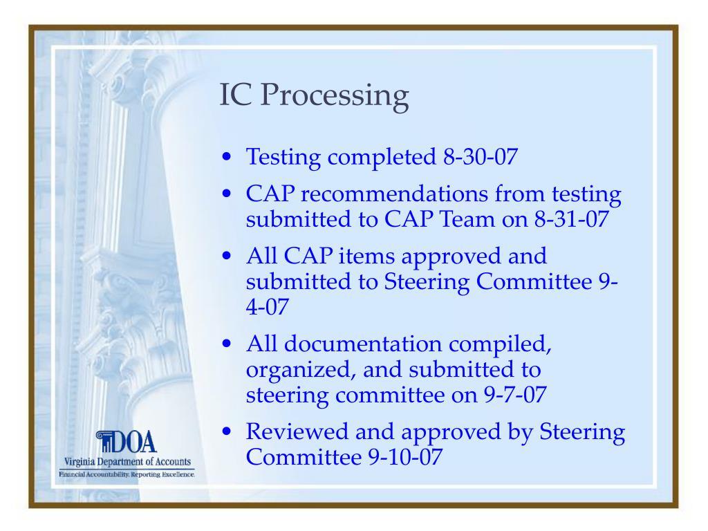 IC Processing