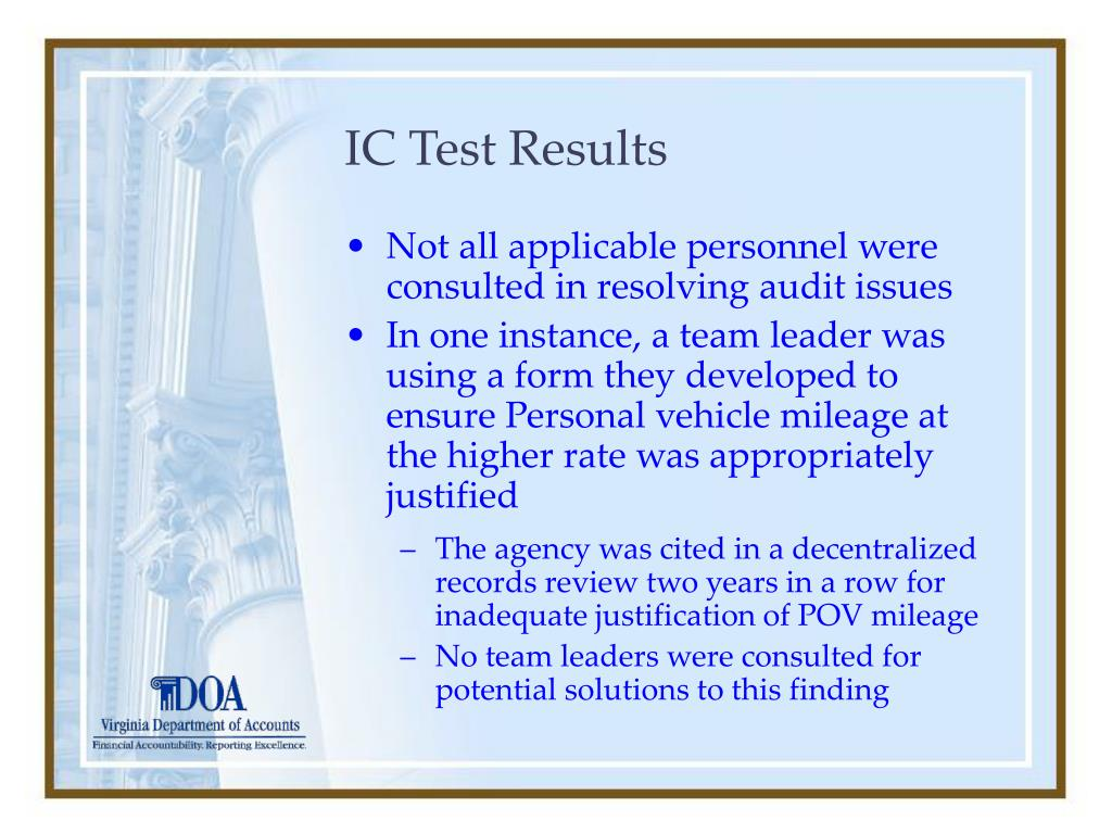 IC Test Results