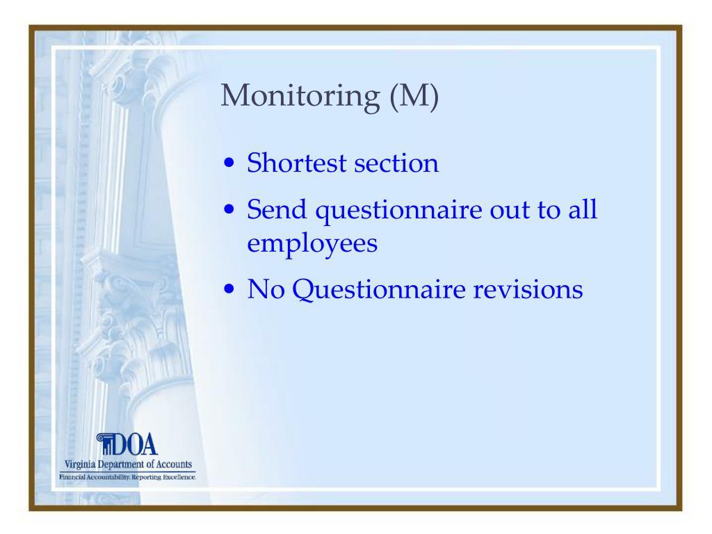 Monitoring (M)