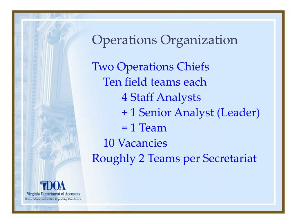 Operations Organization