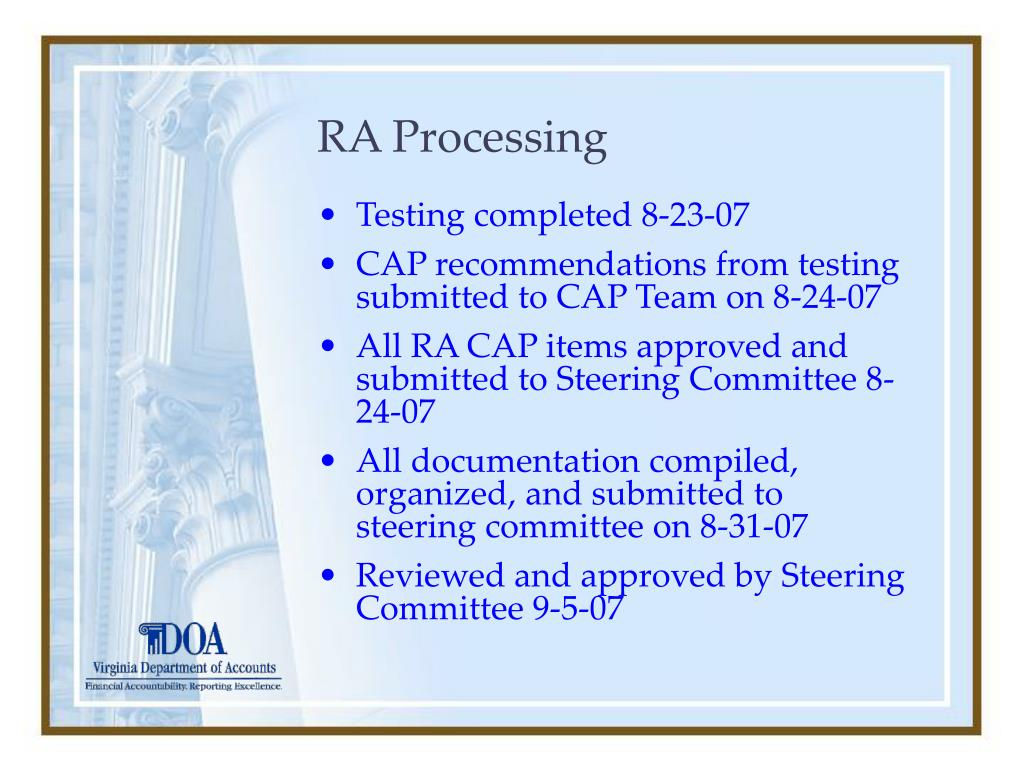 RA Processing