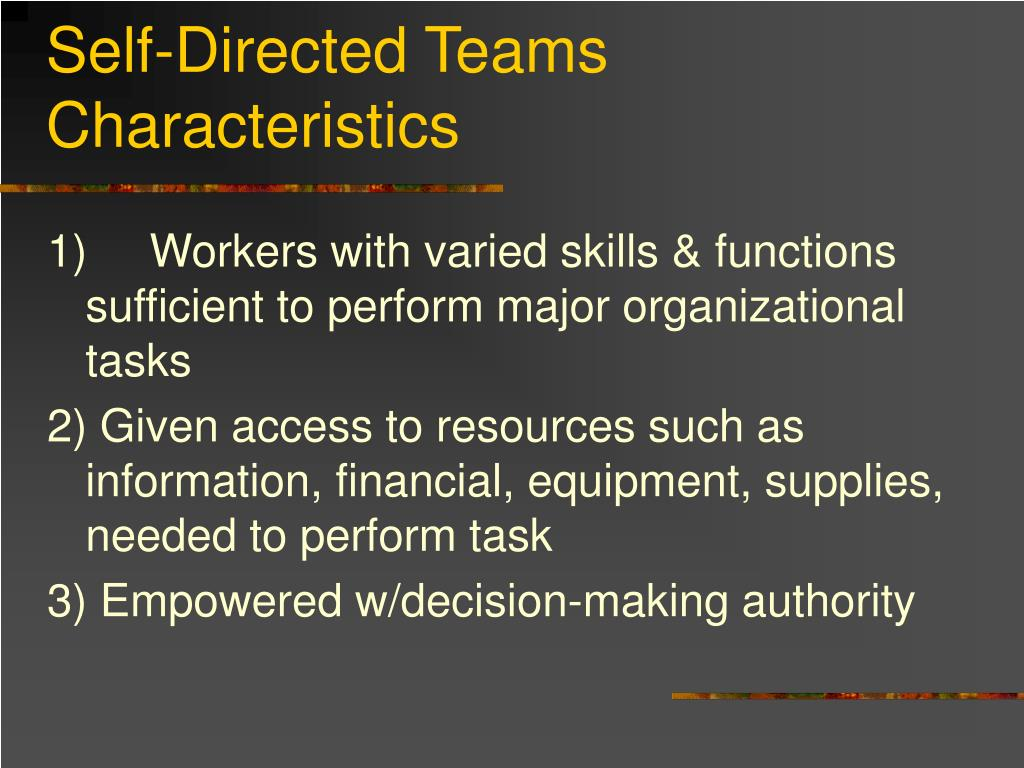 Self-Directed Teams Characteristics