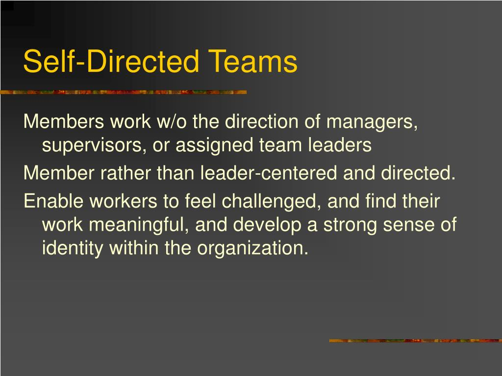 Self-Directed Teams