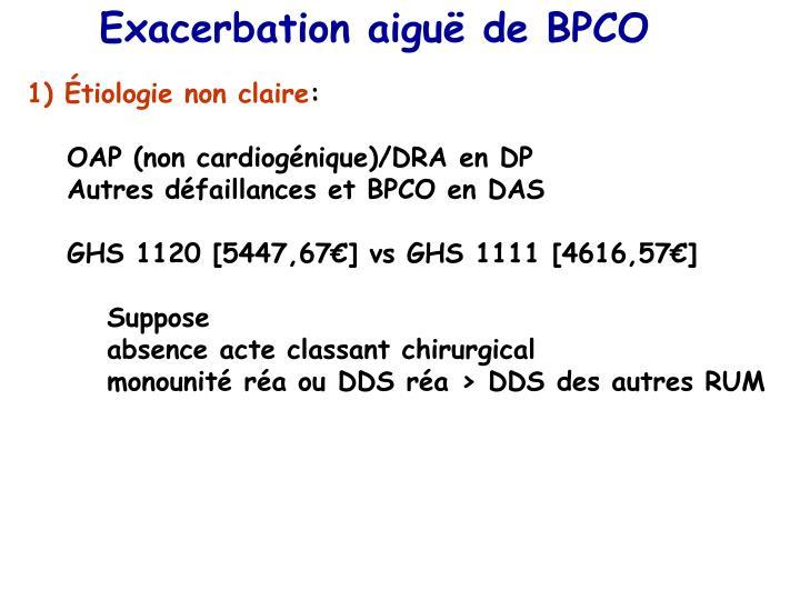 Exacerbation aiguë de BPCO