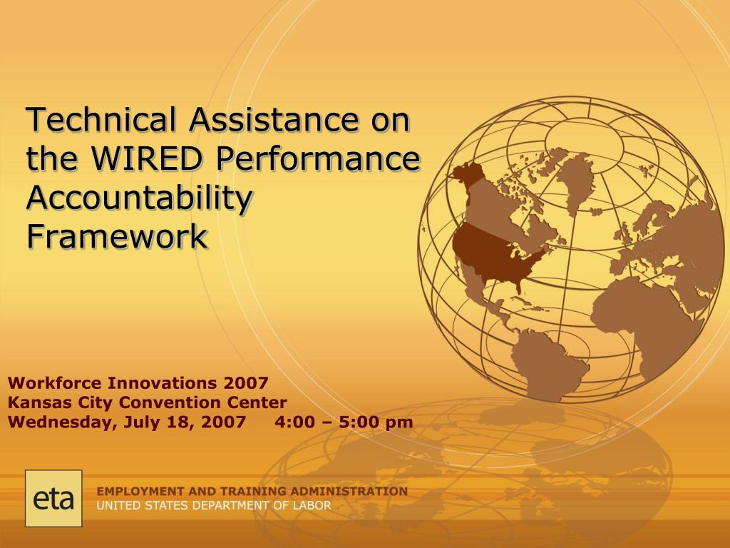 technical assistance on the wired performance accountability framework