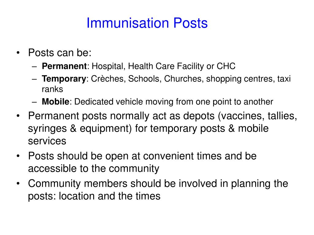 Immunisation Posts