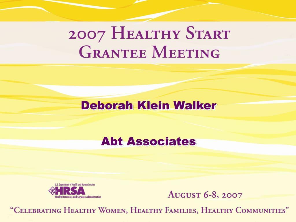Deborah Klein Walker