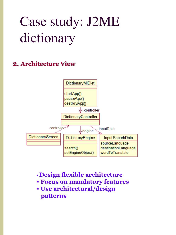 Case study: J2ME dictionary
