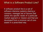 what is a software product line