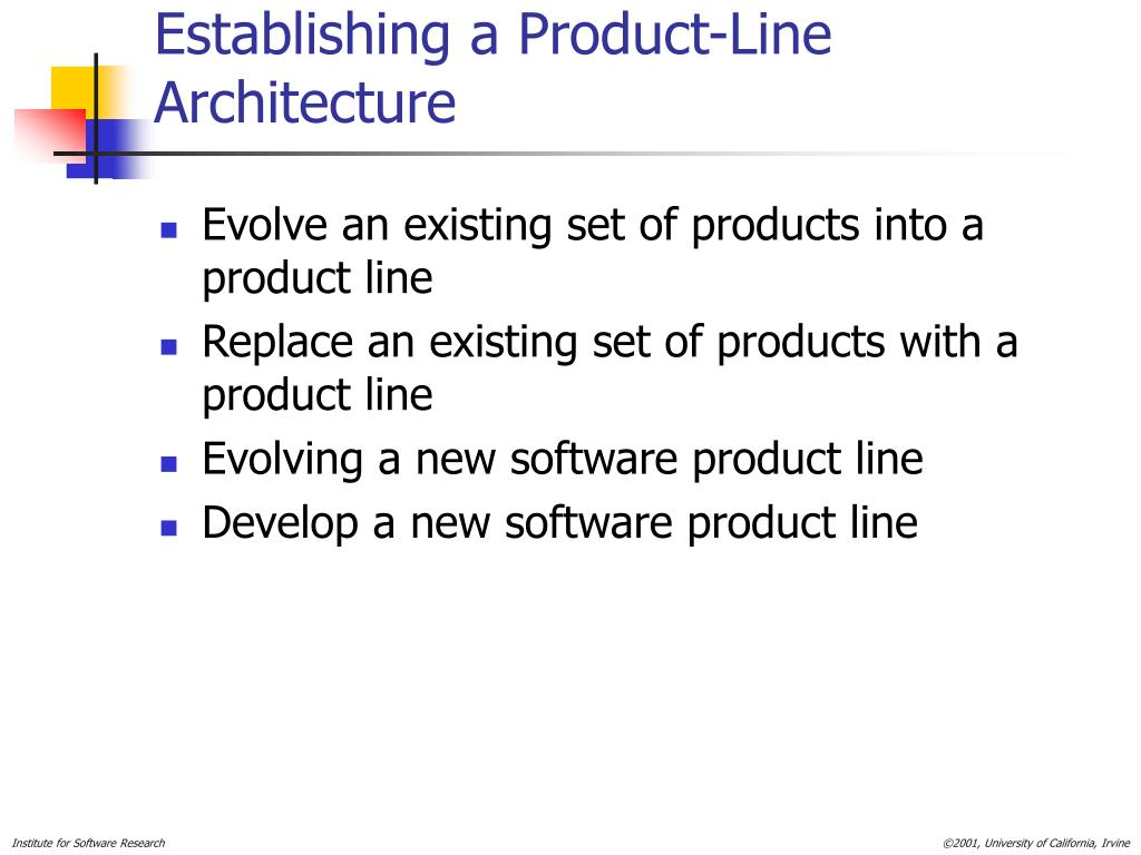 Establishing a Product-Line Architecture