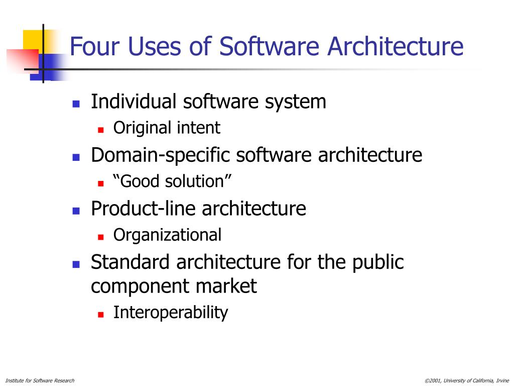 Four Uses of Software Architecture