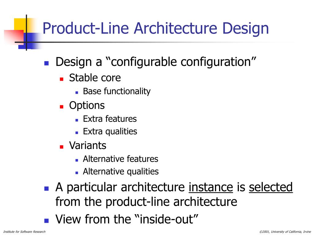 Product-Line Architecture Design