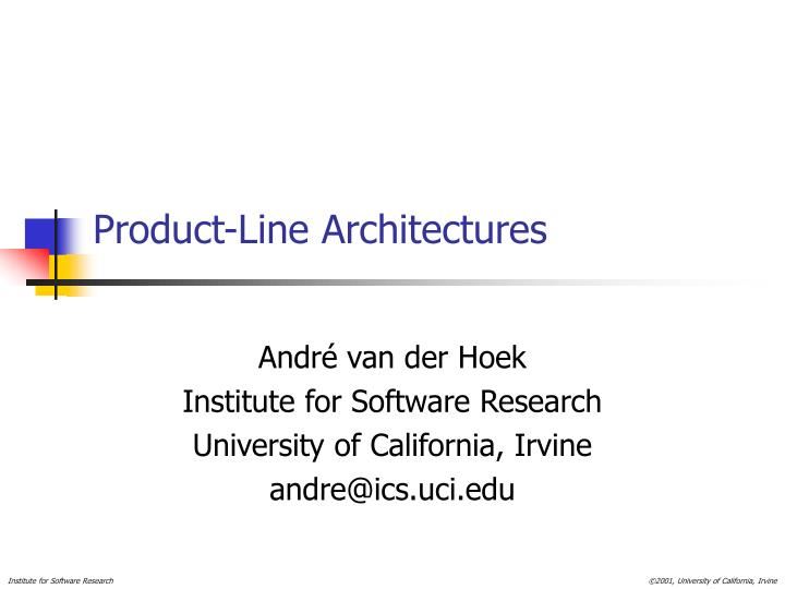 Product line architectures