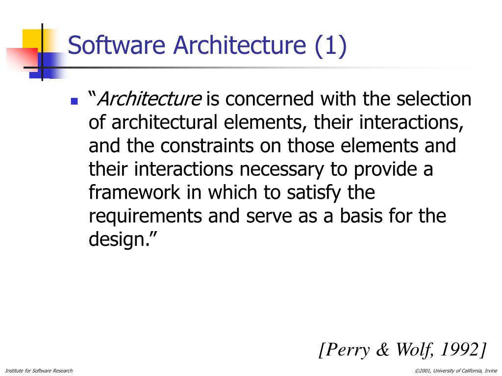 Software Architecture (1)
