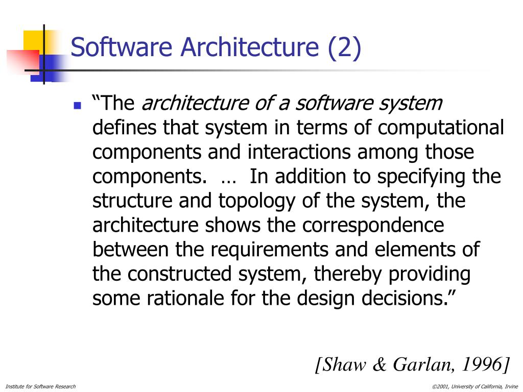 Software Architecture (2)
