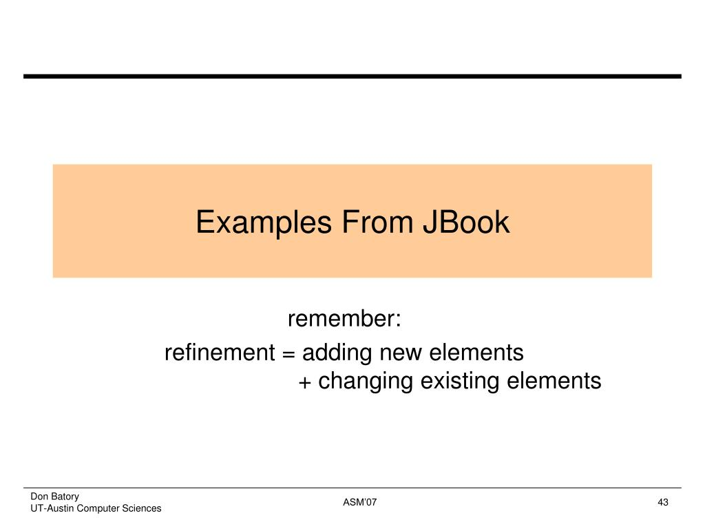 Examples From JBook