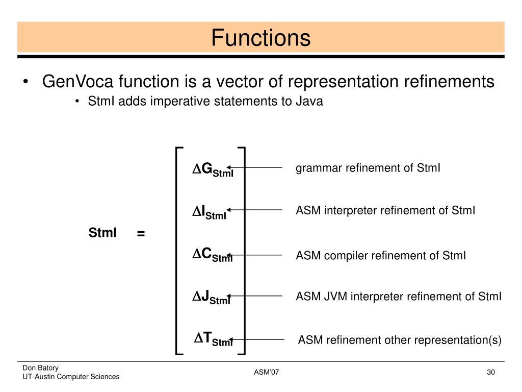 grammar refinement of StmI