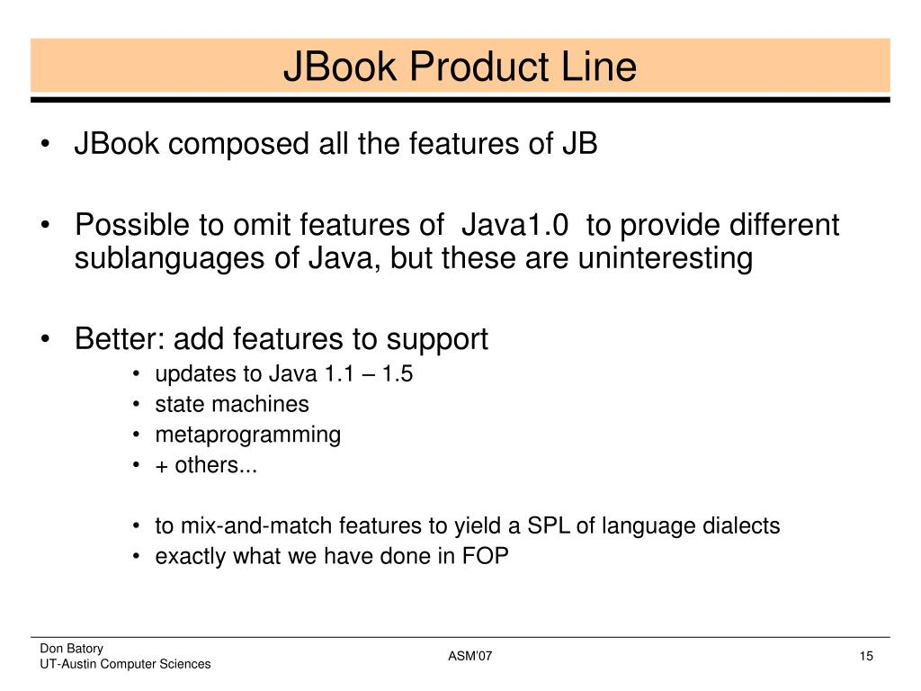 JBook Product Line