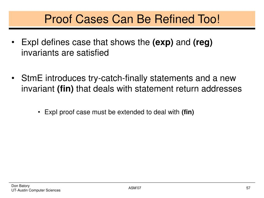 Proof Cases Can Be Refined Too!
