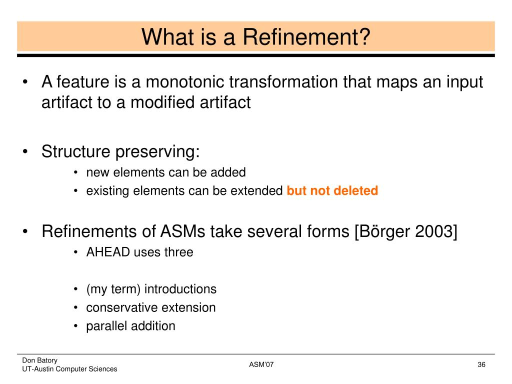 What is a Refinement?