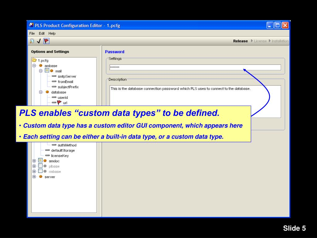 "PLS enables ""custom data types"" to be defined."