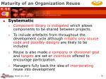 maturity of an organization reuse35