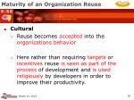 maturity of an organization reuse36