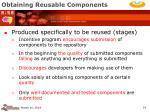 obtaining reusable components