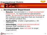 organizational models18