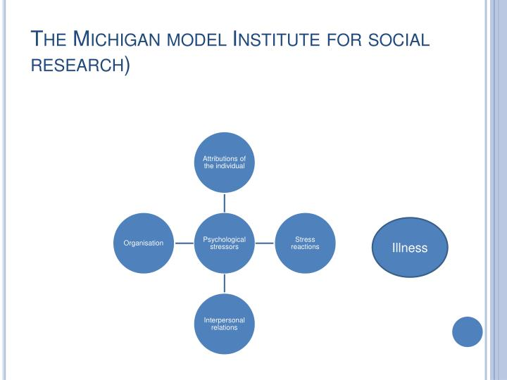 The Michigan model Institute for social research)
