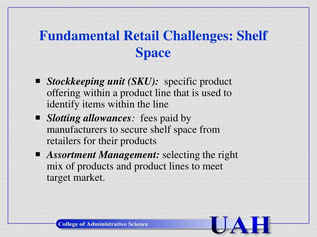 Fundamental Retail Challenges: Shelf Space