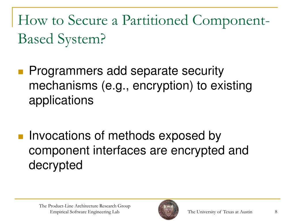 How to Secure a Partitioned Component-Based System?