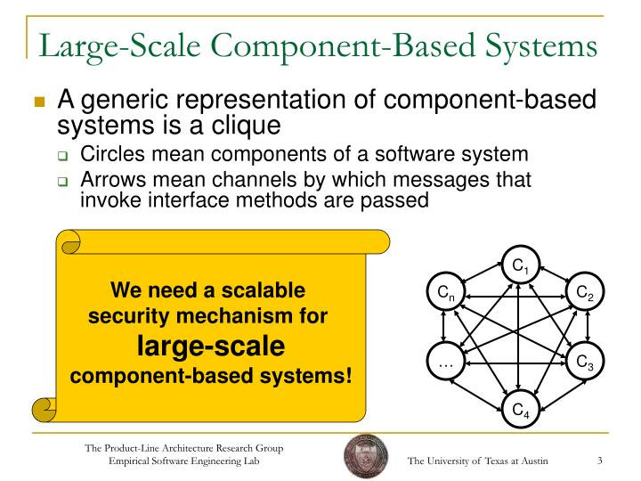 Large scale component based systems