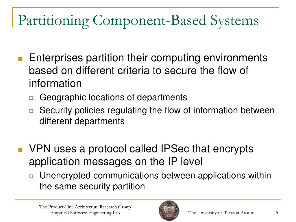 Partitioning Component-Based Systems