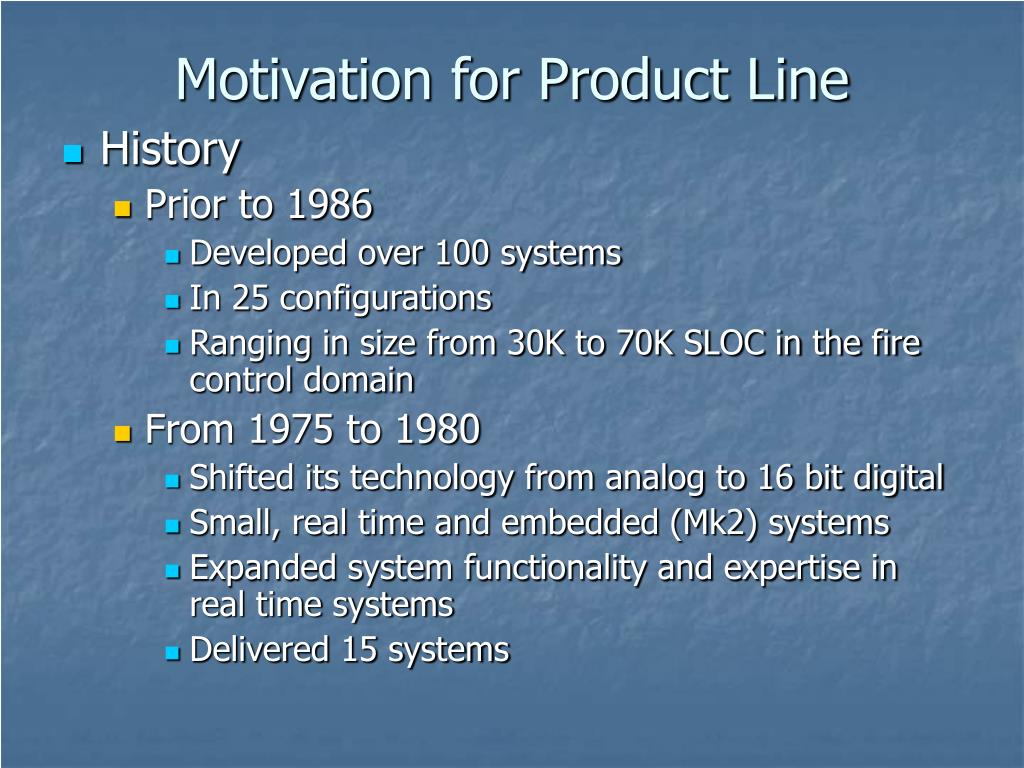 Motivation for Product Line