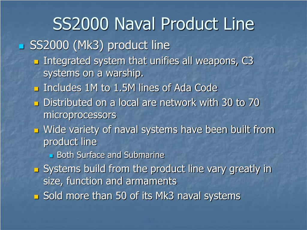 SS2000 Naval Product Line