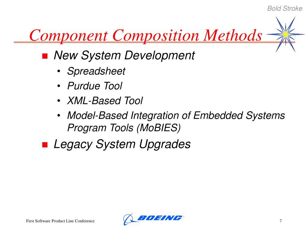 Component Composition Methods